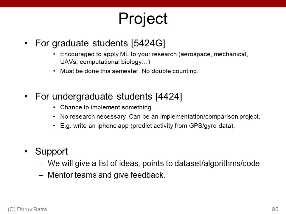 Project For graduate students [5424G]